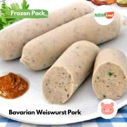 Bavarian Weisswurst Pork Frozen - 180 Gram