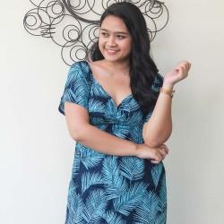 Long Dress Blue Floral