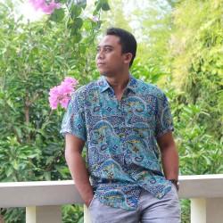 Kemeja Pria Batik Biru